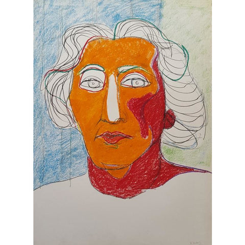EN02P Mrs Jackson on Paper by Enos Lovatt | Original Art by Enos Lovatt | Barewall Art Gallery