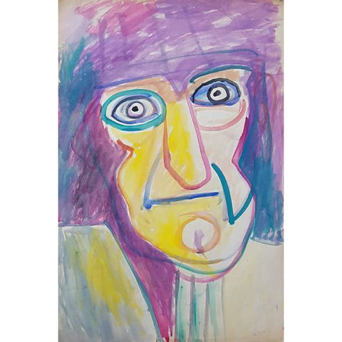EN06P Portrait of My Father on Paper by Enos Lovatt | Original Art by Enos Lovatt | Barewall Art Gallery