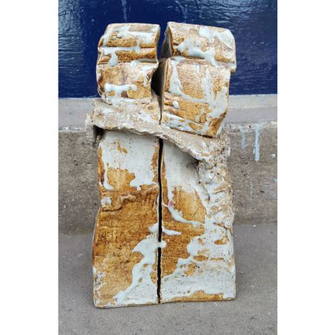 ENS1 - Ceramic Sculpture of Two c1970 | Sculpture by Enos Lovatt | Barewall Art Gallery