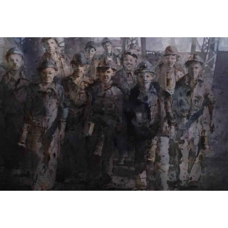 Apprentice Miners by Geoffrey Wynne RI | Original Art by Geoffrey Wynne RI | Barewall Art Gallery