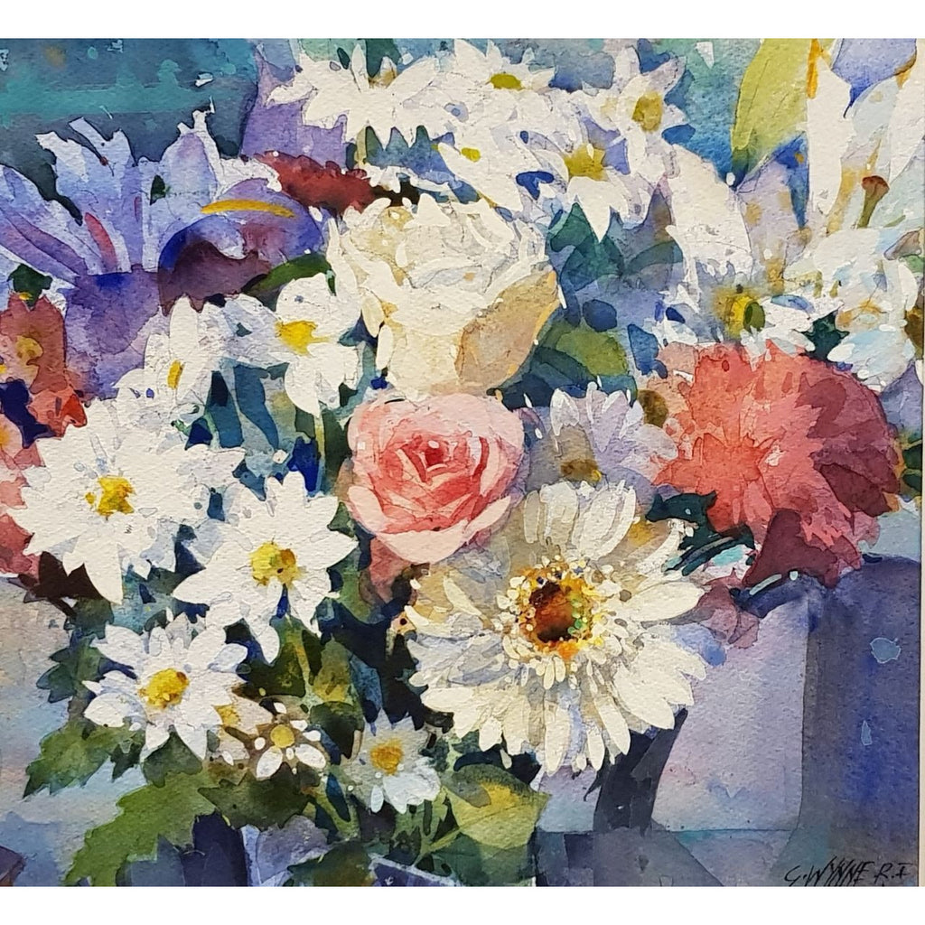 Geoffrey Wynne RI Original Art Bouquet by Geoffrey Wynne RI