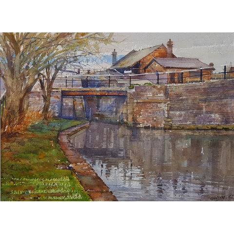Bridge across the Trent and Mersey Canal by Geoffrey Wynne RI | Original Art by Geoffrey Wynne RI | Barewall Art Gallery