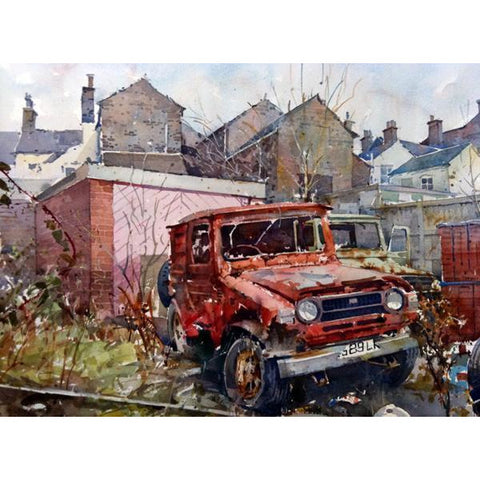 Commercial Street | Original Art by Geoffrey Wynne RI | Barewall Art Gallery