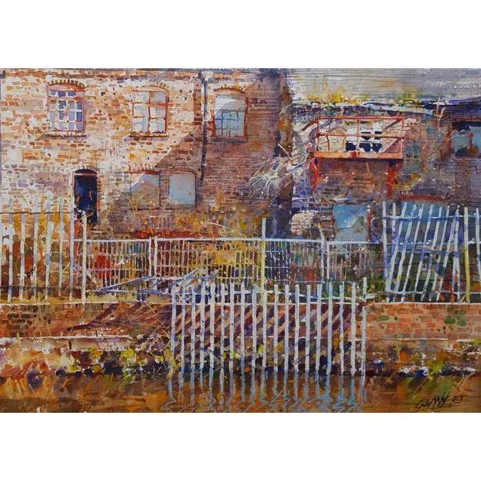Derelict Buildings on the Trent and Mersey by Geoffrey Wynne RI | Original Art by Geoffrey Wynne RI | Barewall Art Gallery