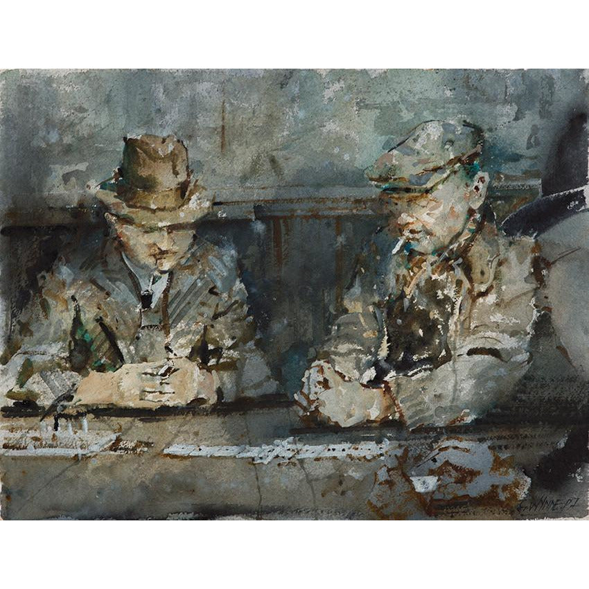 Dominoes (Pub Life) By Geoffrey Wynne RI | Original Art by Geoffrey Wynne RI | Barewall Art Gallery