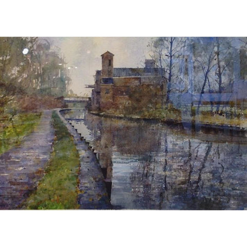 Geoffrey Wynne RI Original Art Middleport Canalside by Geoffrey Wynne RI