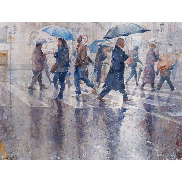 Geoffrey Wynne RI Original Art Raining Cats and Dogs I by Geoffrey Wynne