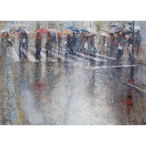 Geoffrey Wynne RI Original Art Raining Cats and Dogs II by Geoffrey Wynne RI