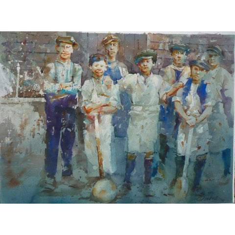 Geoffrey Wynne RI Original Art Saggar Boys II