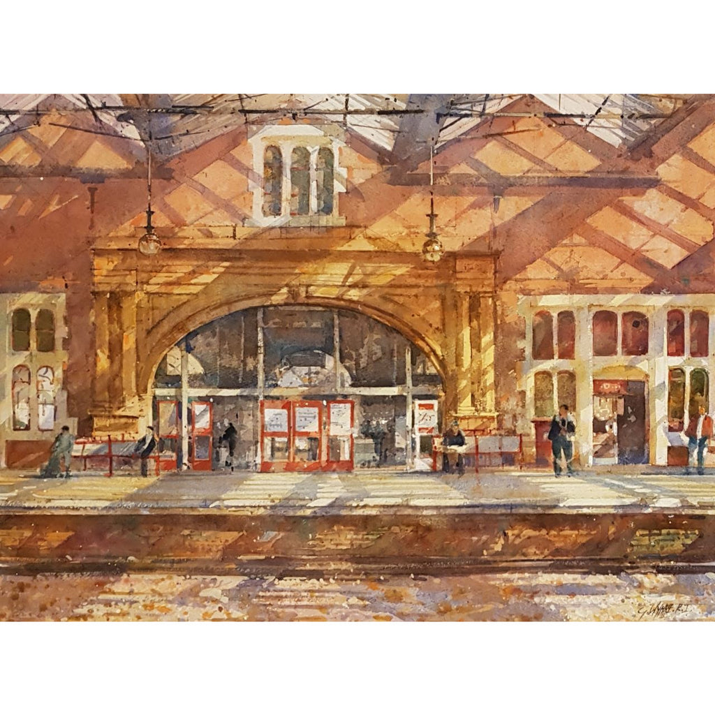 Geoffrey Wynne RI Original Art Stoke Station by Geoffrey Wynne RI