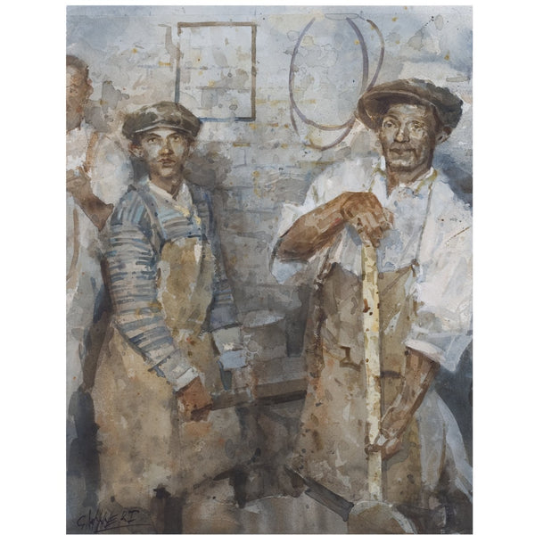 Geoffrey Wynne RI Print Potteries Folk Potteries 20th Century Print Collection by Geoffrey Wynne RI