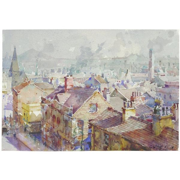 Geoffrey Wynne RI Print Queen Street Burslem Potteries 20th Century Print Collection by Geoffrey Wynne RI