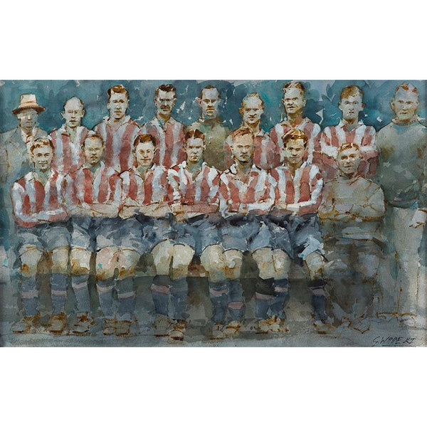 Stoke City 1935 - Geoffrey Wynne RI Print Saggar Boys II Potteries 20th Century Print Collection by Geoffrey Wynne RI