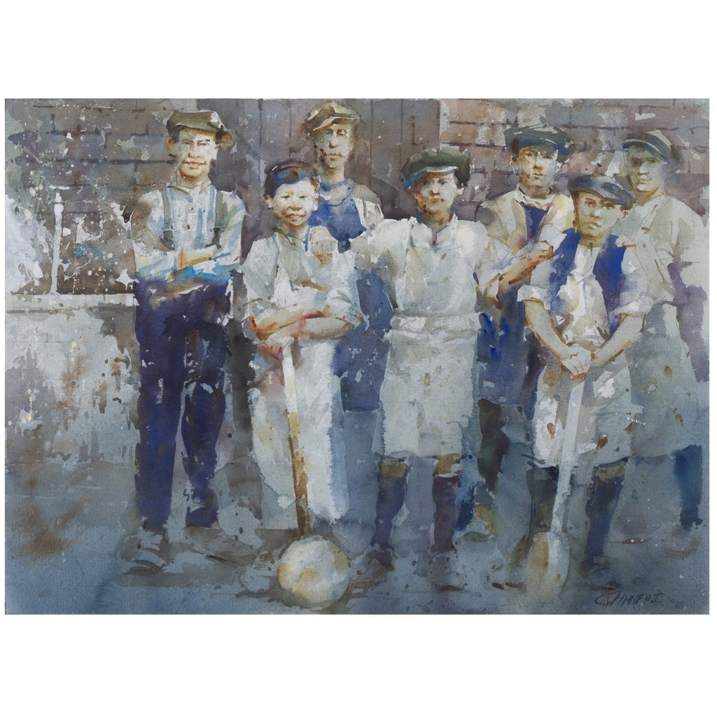Saggar Boys - Geoffrey Wynne RI Print Saggar Boys II Potteries 20th Century Print Collection by Geoffrey Wynne RI