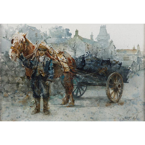 Geoffrey Wynne RI Print The Coal Delivery Potteries 20th Century Print Collection by Geoffrey Wynne RI
