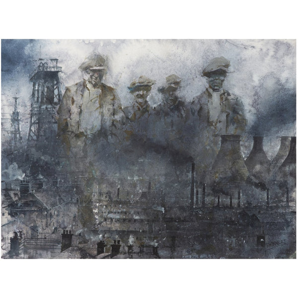 Our Father's Fathers - Geoffrey Wynne RI Print Written in Dust: Our Father's Fathers Potteries 20th Century Print Collection by Geoffrey Wynne RI