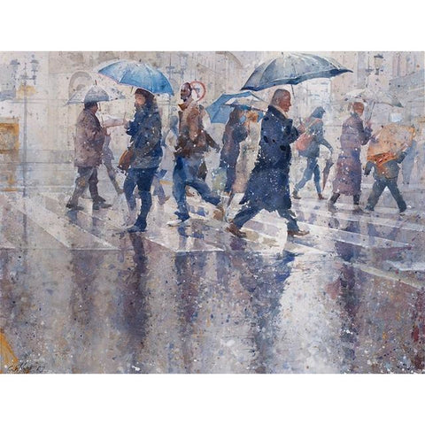 Geoffrey Wynne RI Print Raining Cats and Dogs I Limited Edition Print by Geoffrey Wynne RI