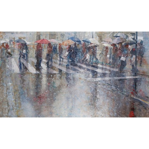 Geoffrey Wynne RI Print Raining Cats and Dogs II Limited Edition Print by Geoffrey Wynne RI