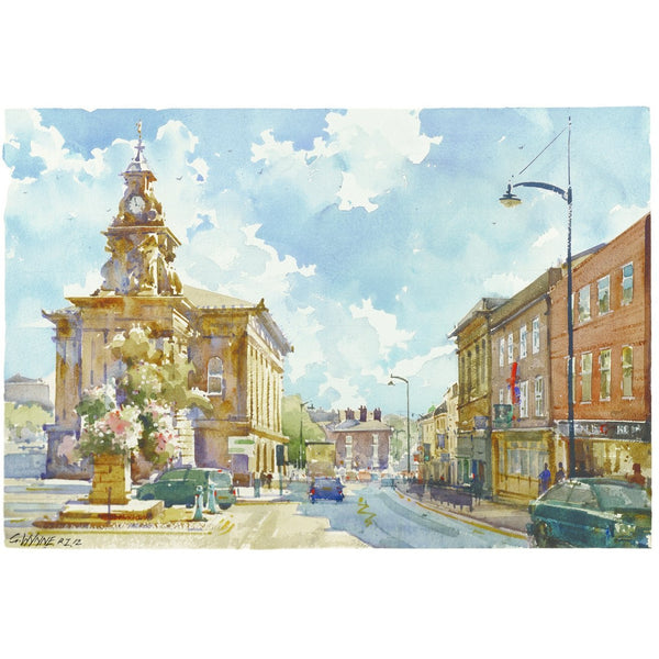 Geoffrey Wynne RI Print Burslem Town Hall The Potteries and Canals Print Collection by Geoffrey Wynne RI