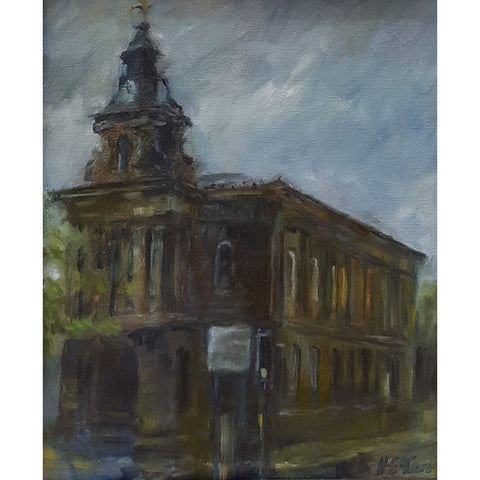 Burslem Town Hall by Helen Tarr | Original Art by Helen Tarr | Barewall Art Gallery