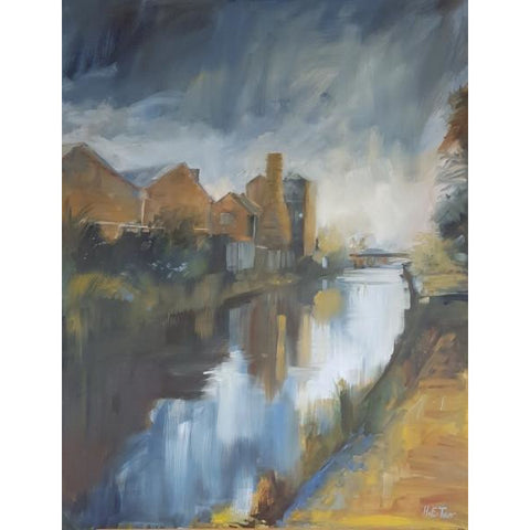 Helen Tarr Original Art Dolby Pottery, Autumn Morning on the Canal 2016 by Helen Tarr