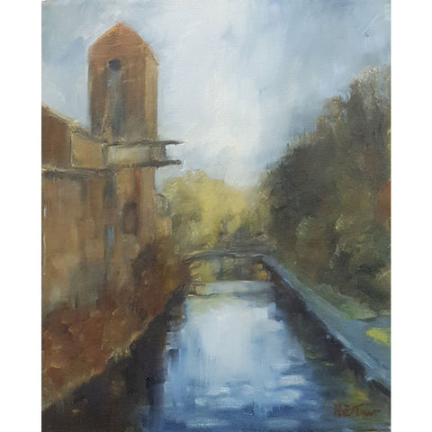 Helen Tarr Original Art The Old Calcining Works on the Canal by Helen Tarr