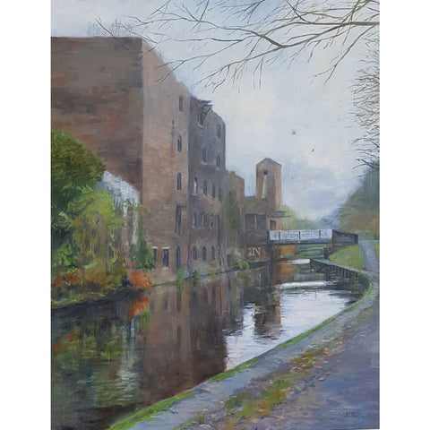 Helen Tarr Original Art The Old Mill on Canal 2018 by Helen Tarr