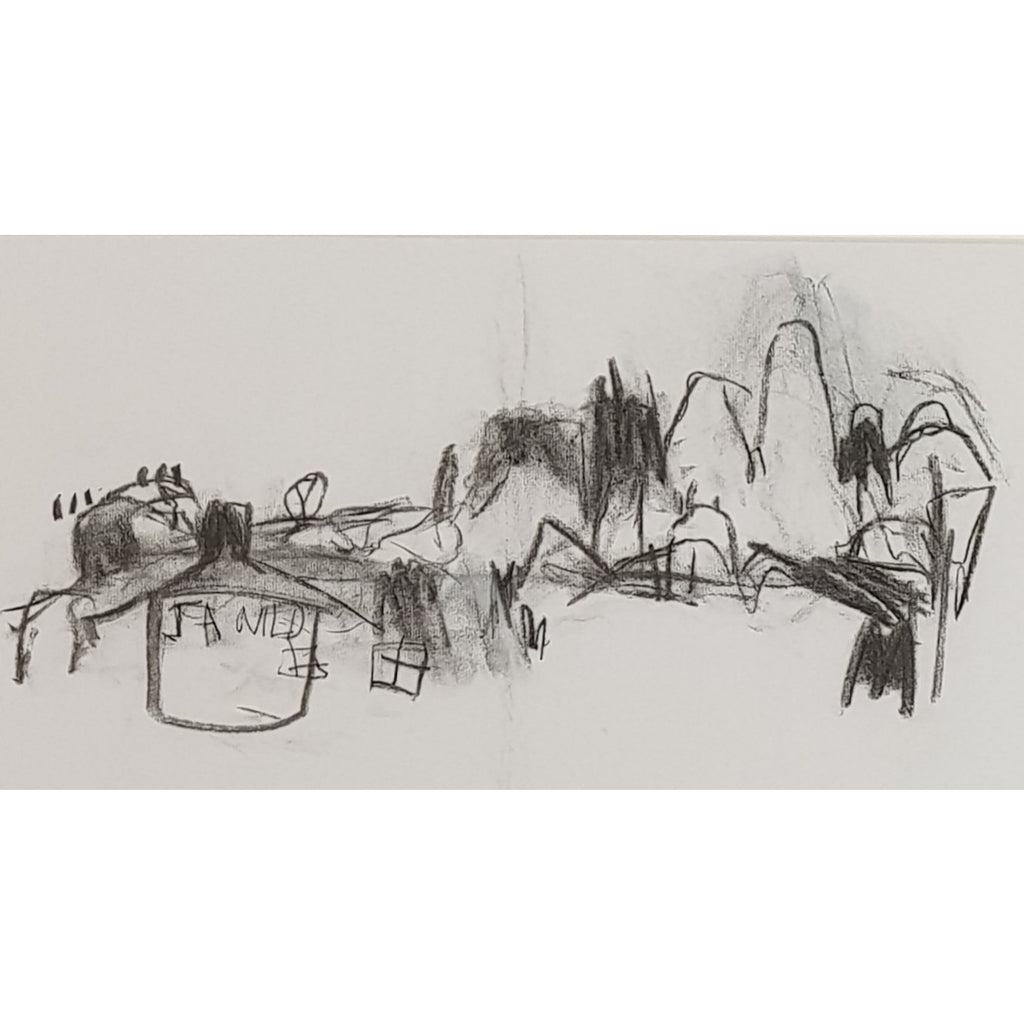 Ian Mood Original Art Longton - graphite on paper by Ian Mood