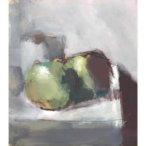 Ian Mood Original Art Still life with Apples 2018 by Ian Mood