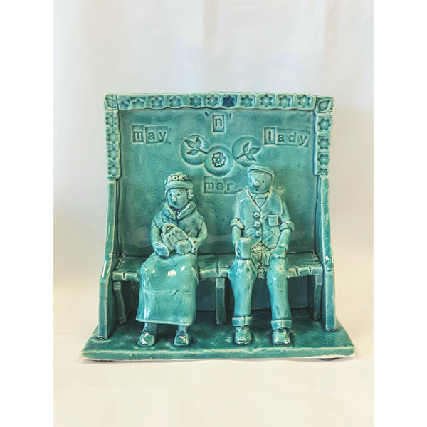 Ian Tinsley Ceramics Blue - Tall Pew May n Mar Lady 2019 by Ian Tinsley Pottery