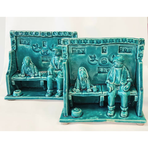Ian Tinsley Ceramics May n the Dog 2019 by Ian Tinsley Pottery