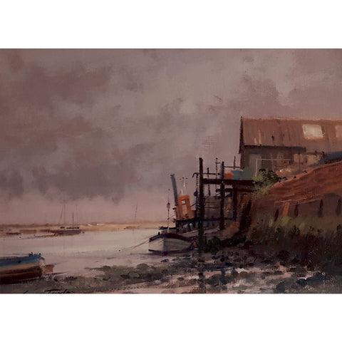 Ivan Taylor Original Art Wells Next by The Sea Oil by Ivan Taylor