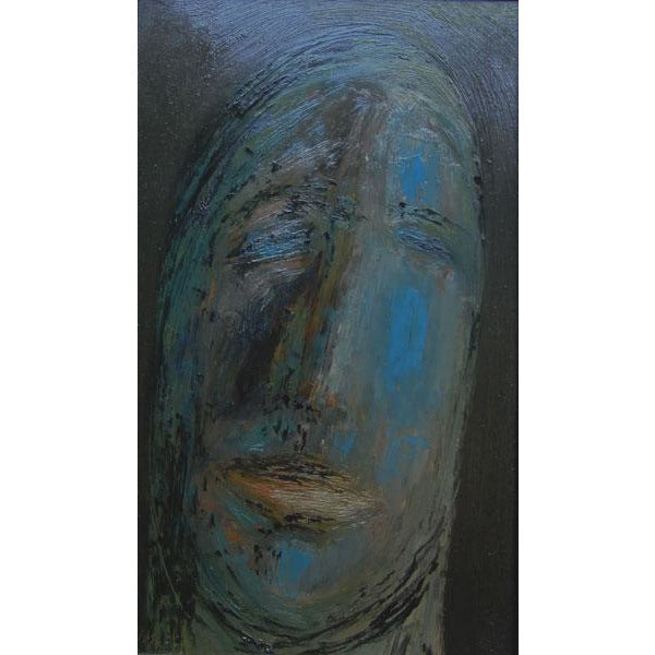 Blue Head 1963 Oil Painting by Jack Simcock | Original Art by Jack Simcock | Barewall Art Gallery