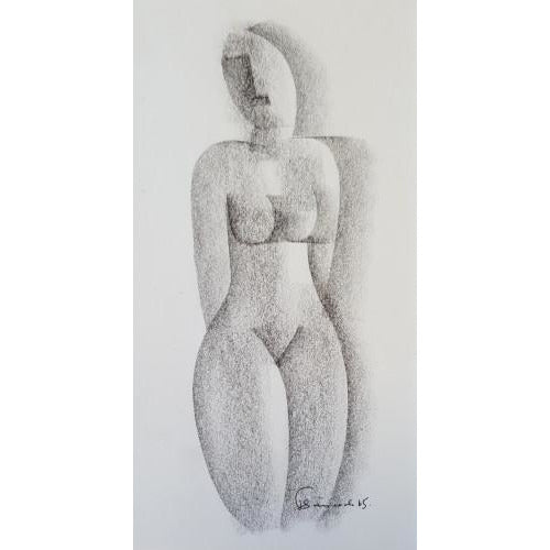 Female Nude Drawing 1965 by Jack Simcock | Original Art by Jack Simcock | Barewall Art Gallery
