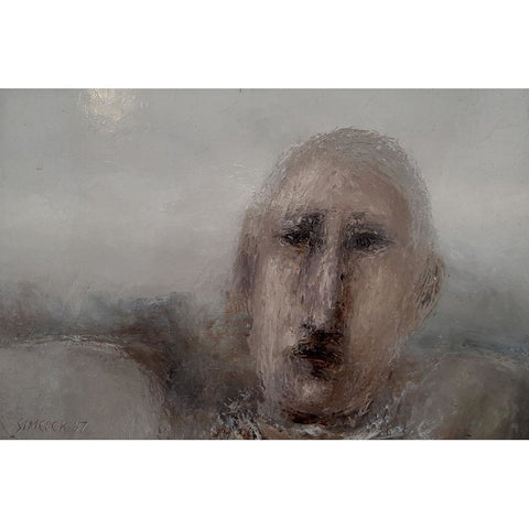 Head of a Man in Landscape 1967 Oil Painting by Jack Simcock | Original Art by Jack Simcock | Barewall Art Gallery