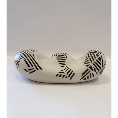 Jessie Roberts Ceramics Large Grey Black Blob 2019 by Jessie Roberts