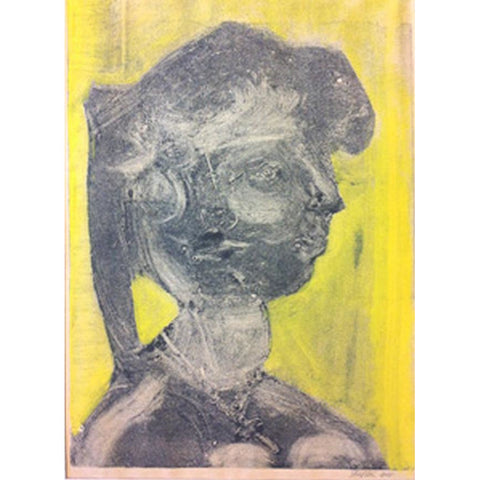 John Shelton Original Art Monoprint - Untitled (Woman) 1964 by John Shelton