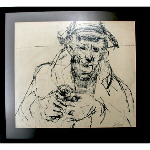 John Shelton Original Art Old Man with Rosette 1958 by John Shelton