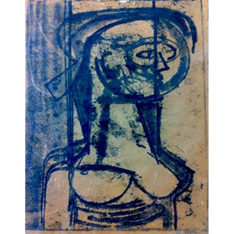 John Shelton Original Art Untitled (Nude Woman) 1966 by John Shelton