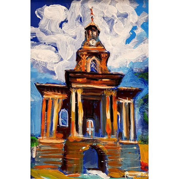 Burslem Town Hall 2019 by Justin Twigg | Original Art by Justin Twigg | Barewall Art Gallery