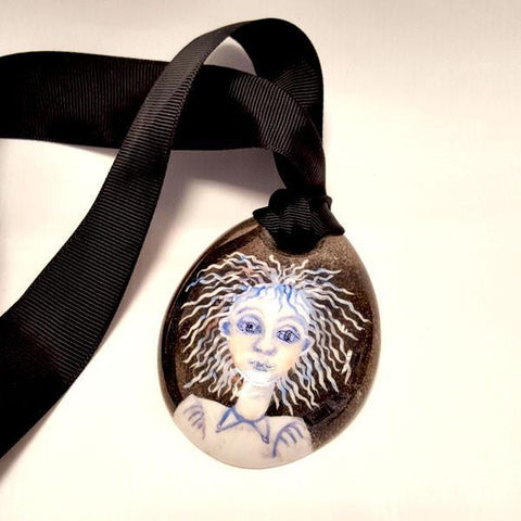Gothic fairly Lustre Pendant by Kate Collins | Ceramics by Kate Collins | Barewall Art Gallery