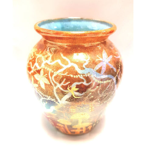 Kate Collins Ceramics KC12 Fairyland Vase with Dragonflies by Kate Collins