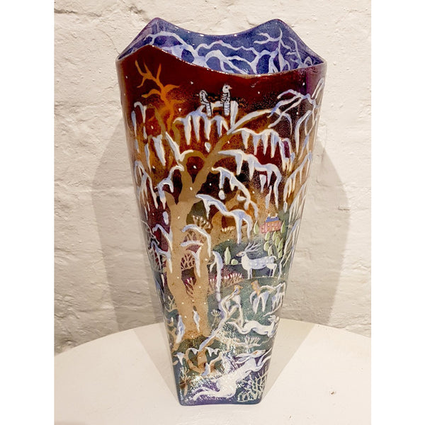 Kate Collins Ceramics KCL1 Winter Woodlands Tall Vase by Kate Collins