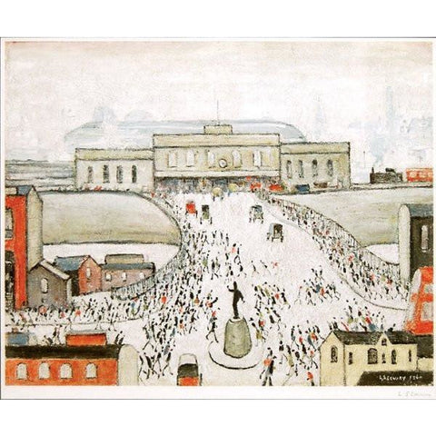 L S Lowry Print Station Approach, Manchester Signed Print by L S Lowry