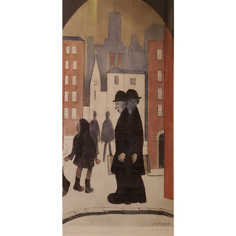 L S Lowry Print Two Brothers Signed Print by L S Lowry