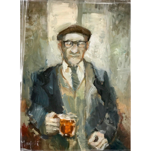 Lucy Manfredi Original Art Half a Pint Oil 2018 by Lucy Manfredi