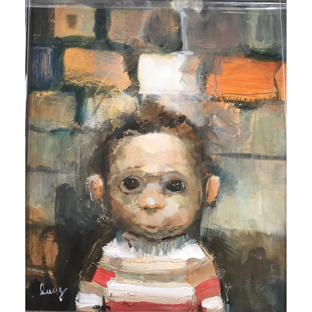 Lucy Manfredi Original Art Nipper in Stripped Jumper 2018 by Lucy Manfredi
