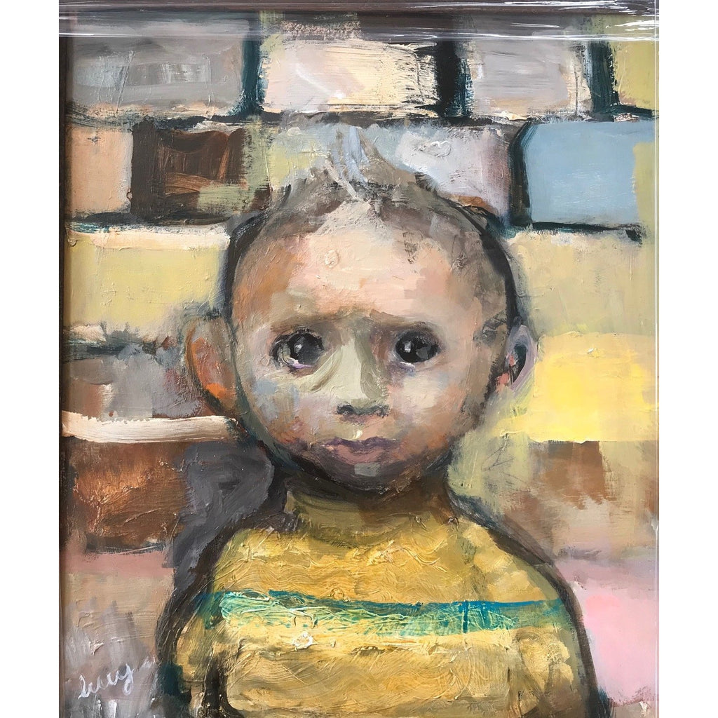Lucy Manfredi Original Art Nipper in Yellow Jumper 2018 by Lucy Manfredi