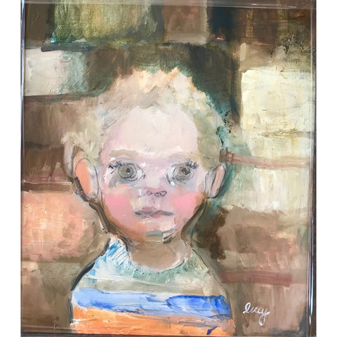 Lucy Manfredi Original Art Nipper with Blue Eyes 2018 by Lucy Manfredi