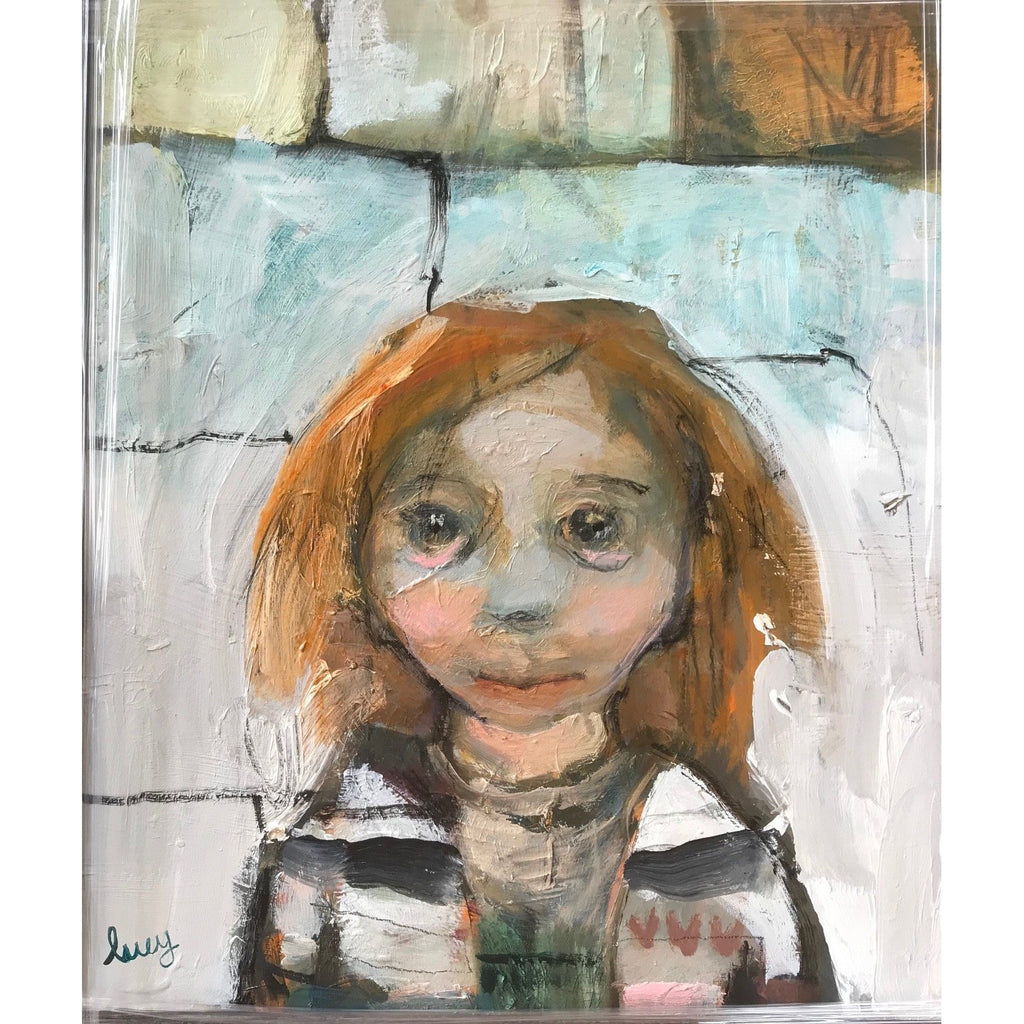 Lucy Manfredi Original Art Nipper with Red Hair 2018 by Lucy Manfredi